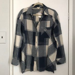 Button up flannel with detail